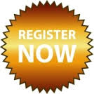Icon that says register now