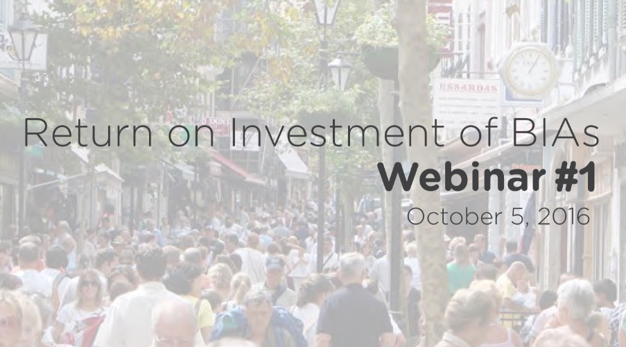 Return on Investment: Webinar 1