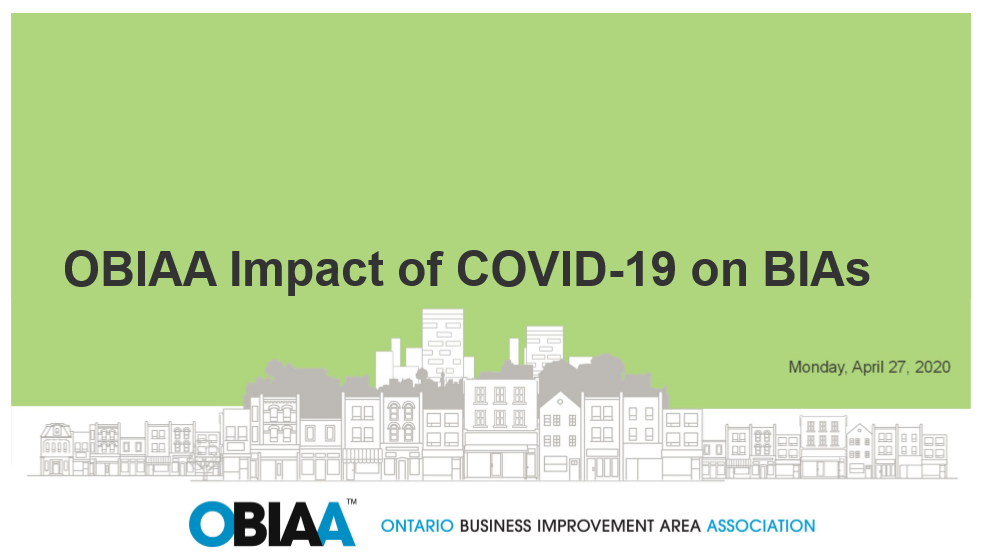 OBIAA Impact of COVID-19 on BIAs Survey Results
