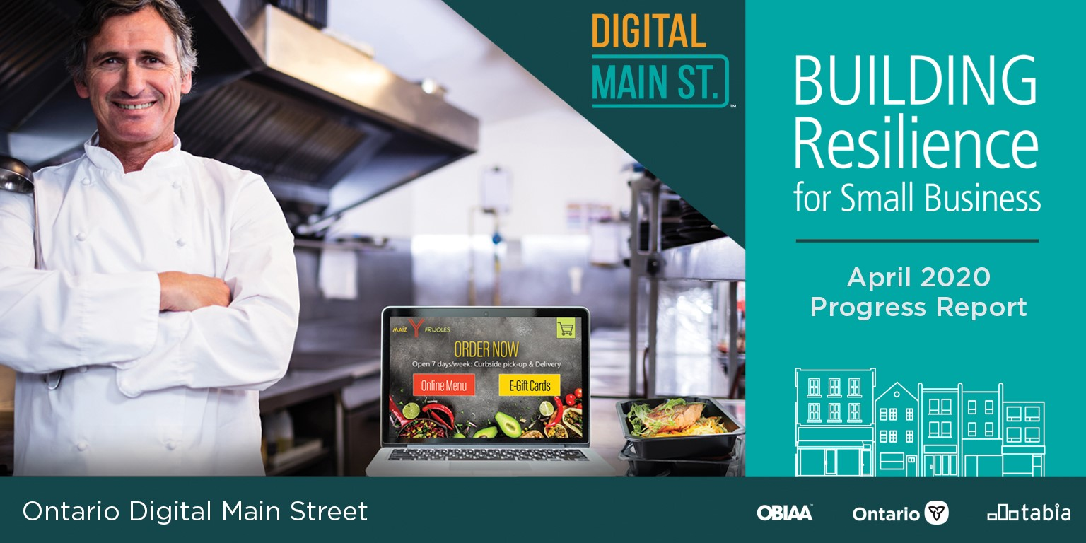 ontario business improvement area association digital main street report 2020