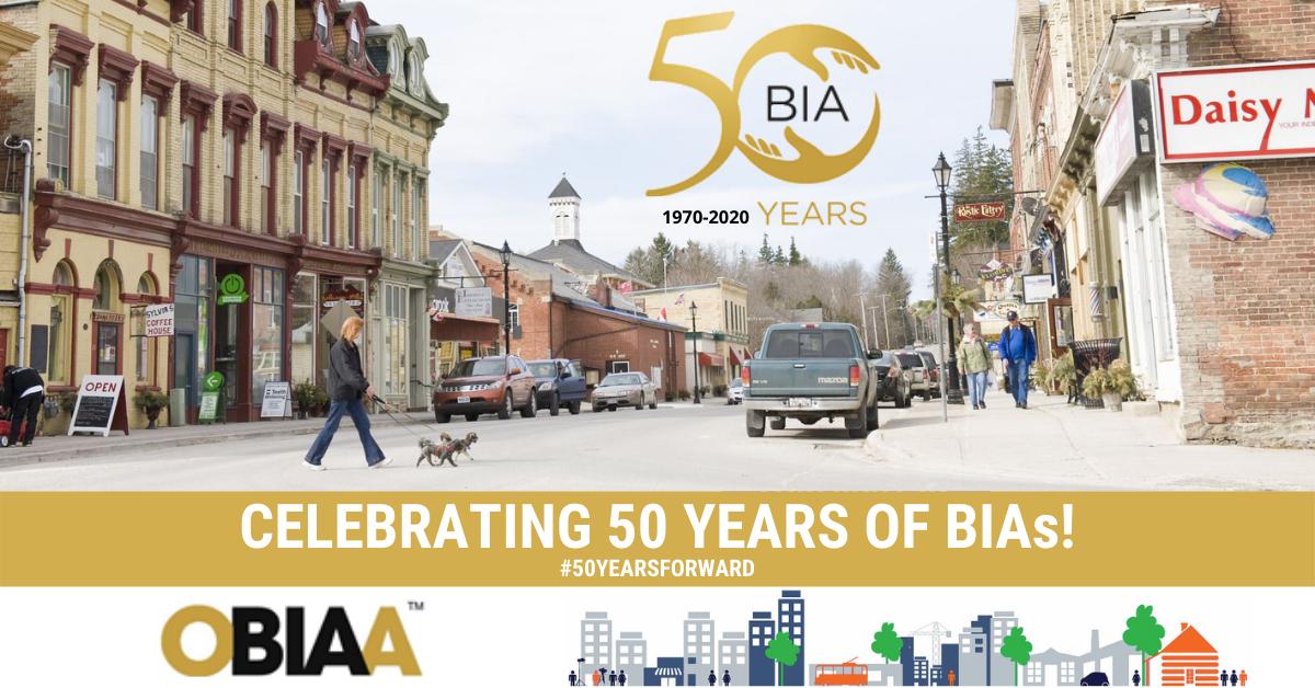 Ontario BIA Association Celebrates the 50th Anniversary of BIAs